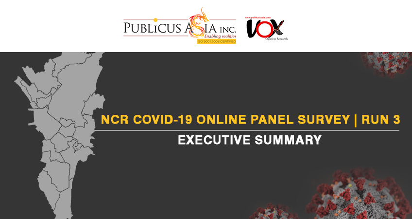 EXECUTIVE SUMMARY – FINDINGS OF NCR COVID-19 ONLINE PANEL SURVEY (Third Run) Fieldwork: May 5-8, 2020