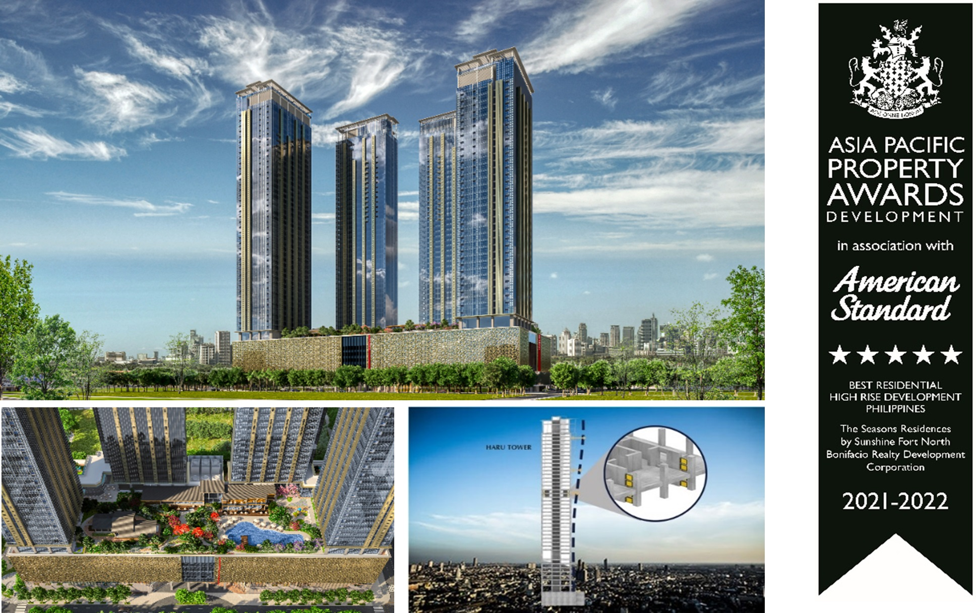 """Condominium """"The Seasons Residence"""" in Manila, Philippines, Receives the Highest Award in the Philippines and Five Stars in the Asia Pacific Region in """"International Property Awards"""" Recognizing Excellent Real Estate Projects"""