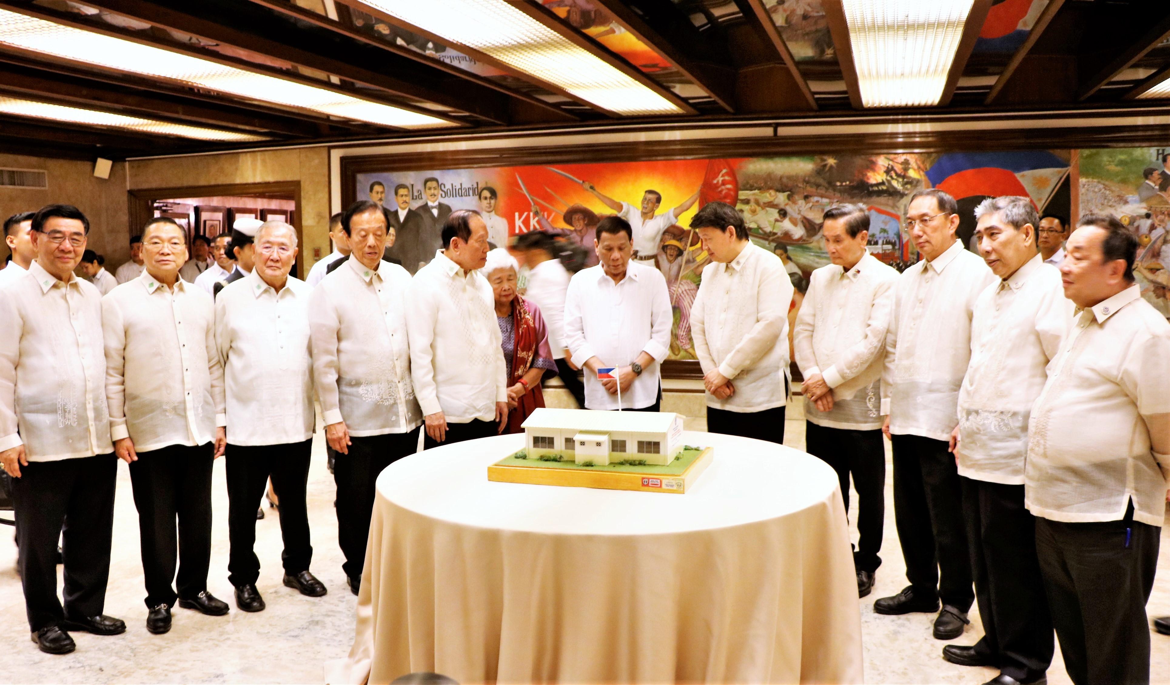 FFCCCII donates 700 public schools at induction with Pres. Duterte