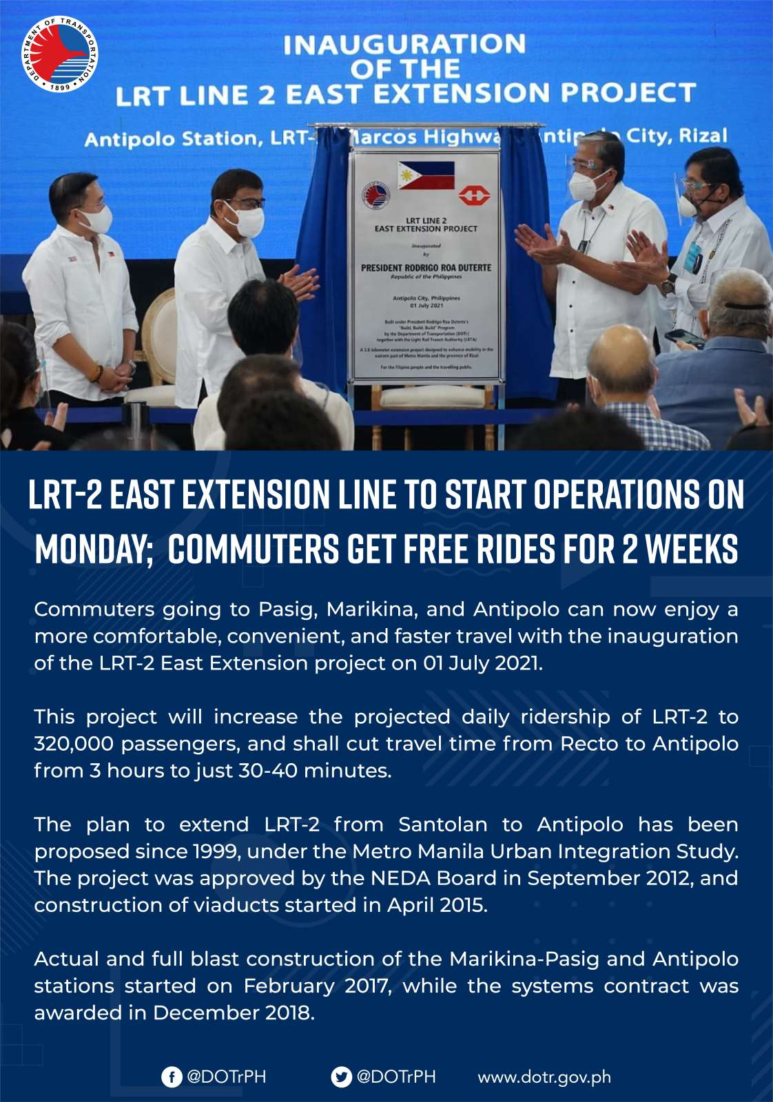 Opening of LRT-2 East Extension Line