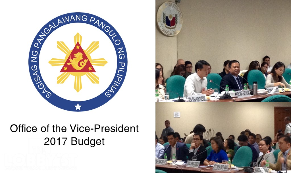 The Office of the Vice-President is asking the Congress for a smaller budget for 2017 while eyeing improved housing services, to be facilitated through better partnerships and improved institutional structures.
