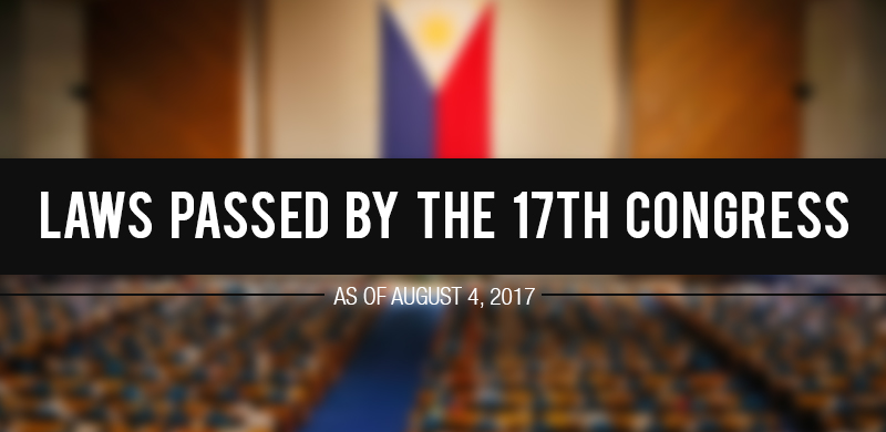 LIST: 10 Laws Passed by the 17th Congress