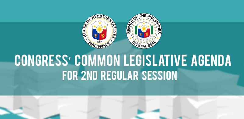 Congress's common legislative agenda for 2nd regular session