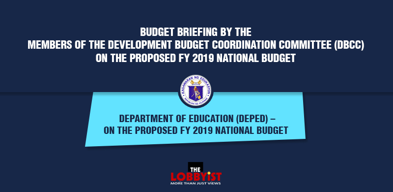 Budget briefing by the members of the Development Budget Coordination Committee (DBCC) on the proposed FY 2019 national budget