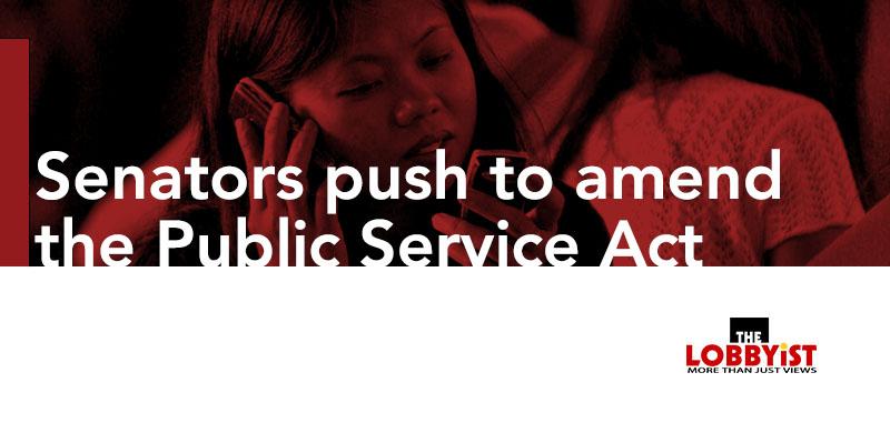 Senators push to amend the Public Service Act