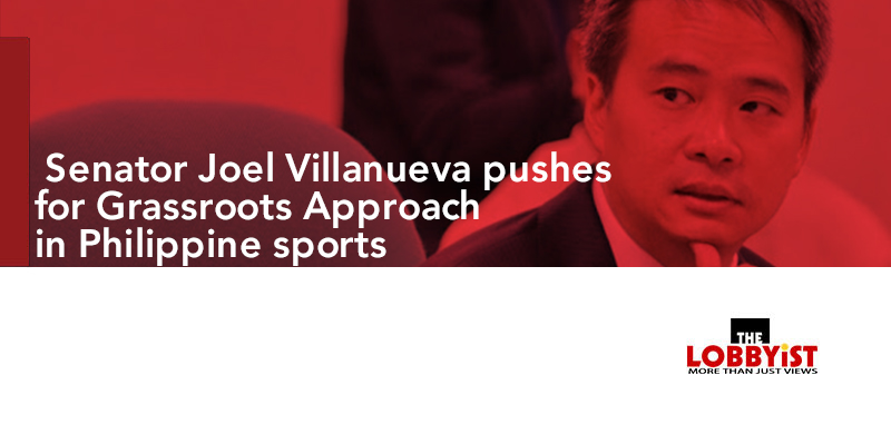 Senator Joel Villanueva pushes for Grassroots Approach in Philippine sports