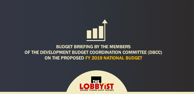 Budget briefing on the proposed FY 2019 national budget – NEDA