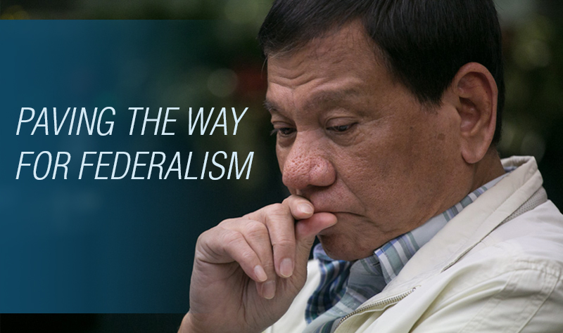 "One of the most pressing issues of this new administration is the President's proposal to change the government system into federal-parliamentary. During his campaign the president called federalism ""the centerpiece of my campaign"", believing that it is high time for the Philippines to adopt a new form of government."