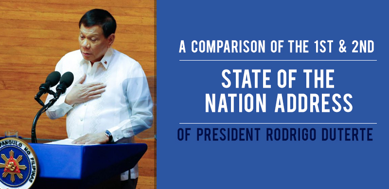 PRRD's first and second SONA, compared