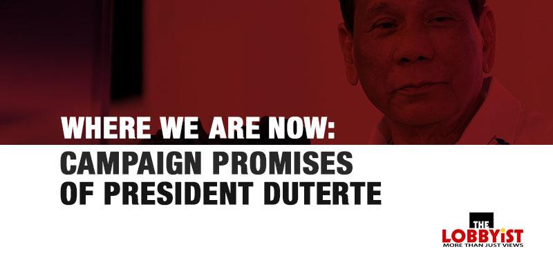 Campaign Promises of PRRD