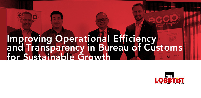 Improving Operational Efficiency and Transparency in Bureau of Customs for Sustainable Growth