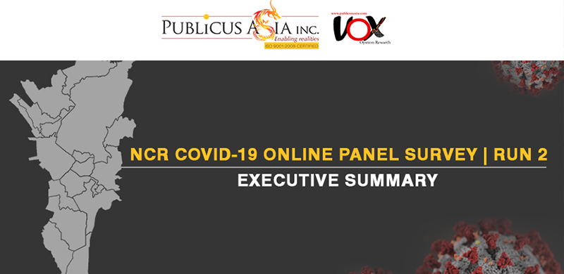 EXECUTIVE SUMMARY – FINDINGS OF NCR COVID-19 ONLINE PANEL SURVEY (Second Run) Fieldwork: April 13-18, 2020