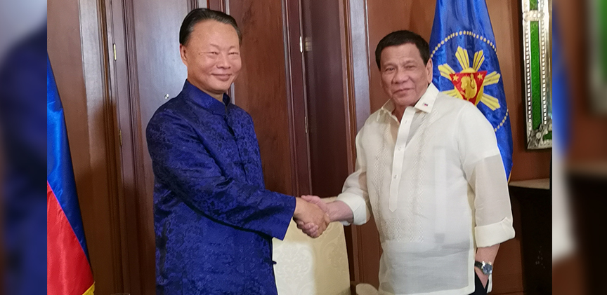 Ambassador Zhao pays a courtesy call on President Duterte