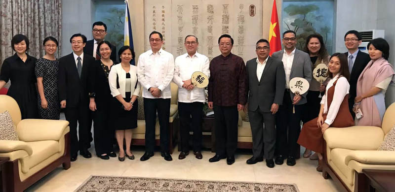 Ambassador Huang Xilian and Secretary of Foreign Affairs Teodoro Locsin Jr. Jointly Celebrate the New Year