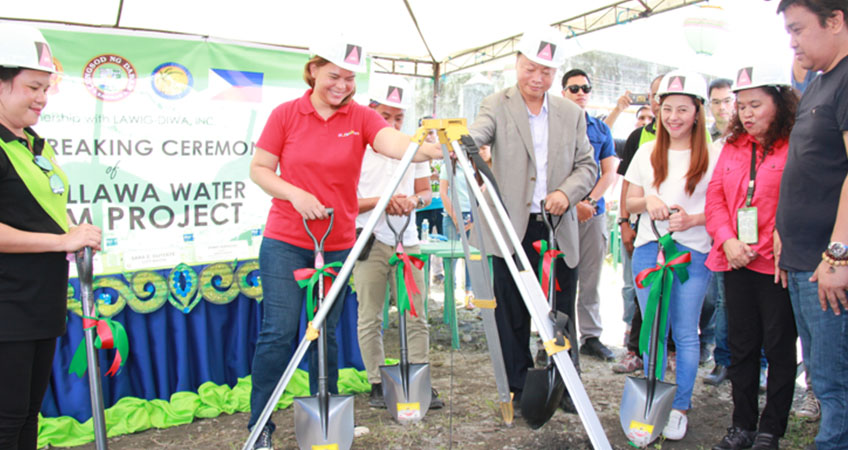 The Callawa Water Pumping Project funded by the Chinese Embassy Breaks Ground in Davao